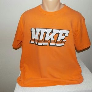Nike Orange Logo Tee Shirt. XL